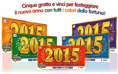 Gratta e Vinci. Per festeggiare il nuovo anno arriva '2015'