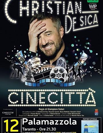 """Questa sera l'Acogi al Palamazzola di Taranto per lo spettacolo """"Cinecittà"""" di Christian De Sica"""