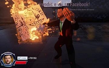 Finisce alla Procura di Pisa il videogioco su Matteo Salvini