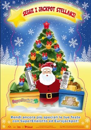 SuperEnalotto ed Eurojackpot si preparano al Natale con Sistemi Bacheca e Quick Pick dedicati