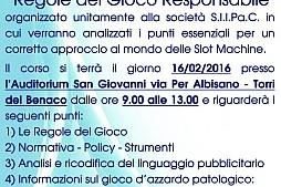 Verona: a Torri del Benaco un corso per un corretto approccio al mondo delle slot machine