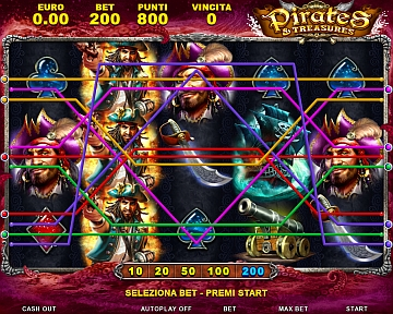 004 Pirates & Treasures 10 lines bet 200