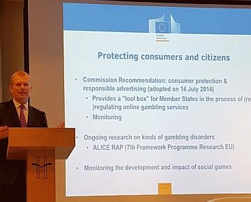 """A Barcellona il vertice di Euromat Gaming Summit. Temmink (Ue): """"Al primo posto gli operatori devono mettere la tutela del consumatore"""""""