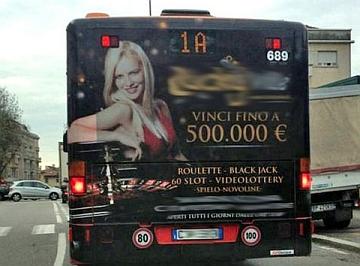 """Ferrara. Maresca (PD): 'Rimuovere la pubblicità di una sala slot sui mezzi pubblici"""""""
