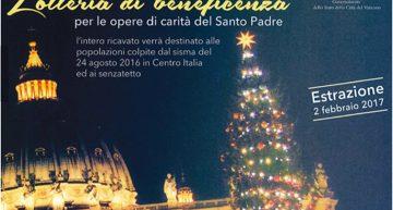 Vaticano. Al via la IV edizione della Lotteria di benificenza per le opere di carità del Santo Padre