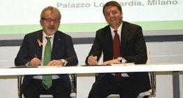 Beccalossi consegna a Renzi la maglia anti-ludopatia