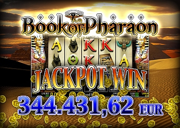 Agosto da capogiro su Goldbet.it:  la slot Book of Pharaon paga 344mila euro