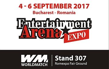 Worldmatch espone per la prima volta all'Entertainment Arena Expo di Bucarest