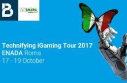 Enada Roma, unica tappa italiana del Technifyng iGaming Tour 2017 di BtoBet