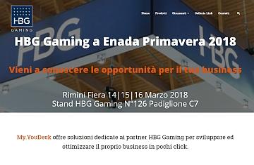 HBG My.YouDesk,  la nuova piattaforma di HBG Gaming al servizio del Business Partner