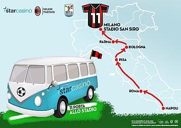 #Starcasinòtiportaallostadio: il viaggio dell'anno per 5 tifosi rossoneri