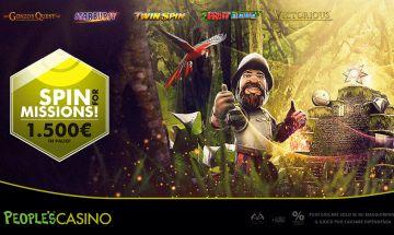 Microgame. Spin for Missions: anche il Gonzo nella promo People's Casino da 1.500 euro