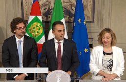 """Di Maio (M5S): """"Nel contratto di governo ci sono le Cinque stelle del Movimento, tra cui la lotta al gioco d'azzardo"""""""