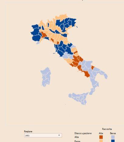 Gioco d'azzardo e disoccupazione: si gioca di più nel Centro Italia