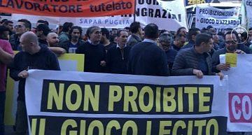 Puglia. I sindacati tornano in piazza contro la legge regionale sul gioco. Sapar sostiene la manifestazione