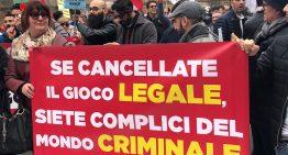 Agisco sostiene la manifestazione sindacale contro l'entrata in vigore della legge sul gioco