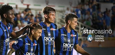 Prosegue l'accordo di sponsorship tra StarCasinò e Atalanta Bergamasca Calcio