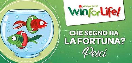 Win for Life. Sono 40 le rendite distribuite 'sotto il segno dei pesci'