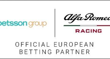 Betsson Group diventa Official European Betting Partner di Alfa Romeo Racing