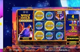 Lo Scratchcard Wolf Gold di Pragmatic Play paga 1.000.000 gbp su Playojo